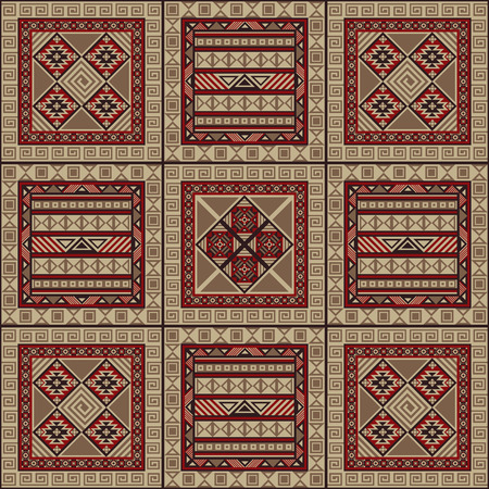 tiles floor: Navajo art boho seamless pattern. Ethnic geometric print. Aztec and African colorful repeating background texture. Fabric, cloth design, wallpaper, wrapping. Vector illustration.