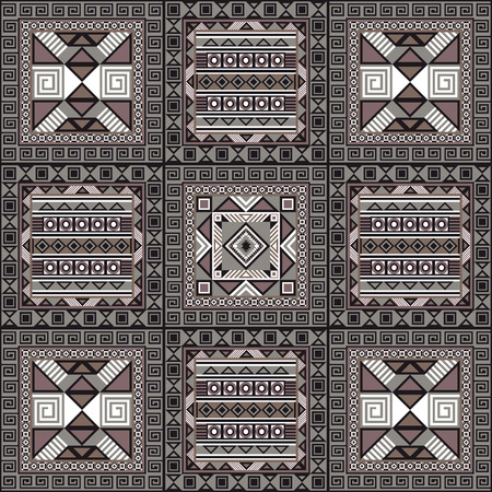 napkin: Navajo art boho seamless pattern. Ethnic geometric print. Aztec and African colorful repeating background texture. Fabric, cloth design, wallpaper, wrapping. Vector illustration.