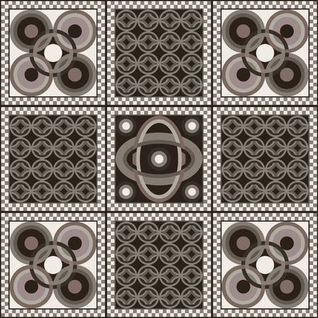 interior cell: Art vintage abstract seamless pattern or texture (background).