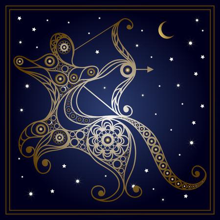 sagittarius: Decorative Zodiac sign Sagittarius