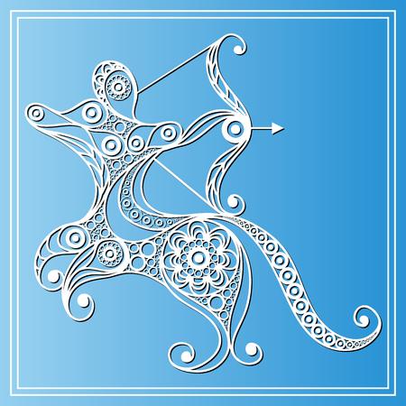 sagitario: Decorativo del zodiaco muestra del zodiaco