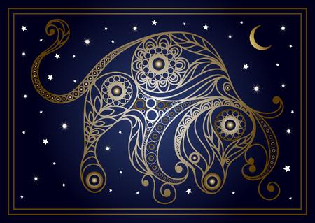 装飾的な星座おうし座  イラスト・ベクター素材