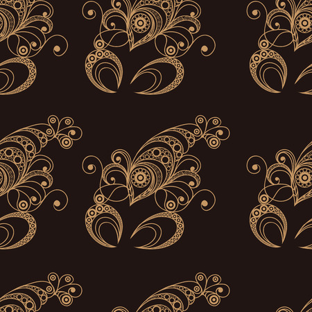 gobelin tapestry: Seamless texture background with lace pattern with Cancer.