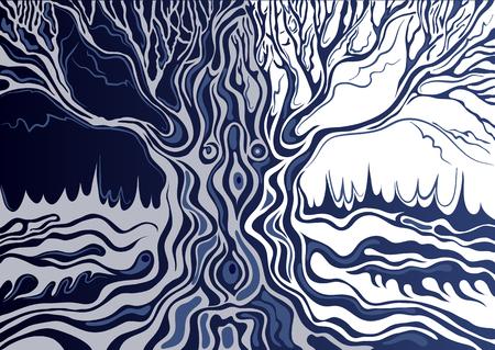 Stilisierte isoliert einzigen Baum (Eiche). Geeignet für die Einladung, Flyer, Aufkleber, Poster, Banner, Karten, Etiketten, Cover, Web. Vektor-Illustration. Vektorgrafik
