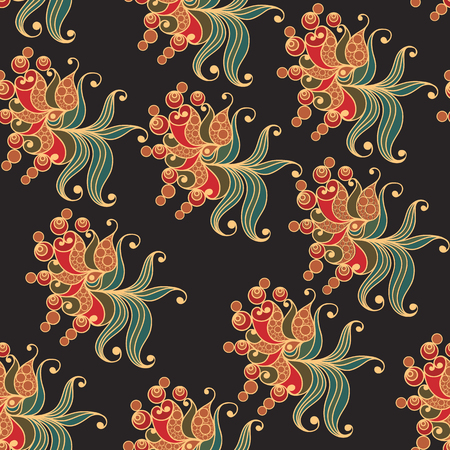 gobelin: Seamless texture (pattern) in floral style. Suitable for design: cloth, web, wallpaper, packaging, wrapping. Vector illustration. Illustration