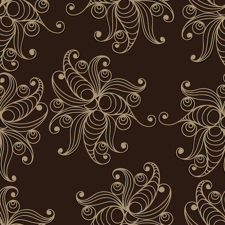 gobelin tapestry: Seamless texture (pattern) in floral style. Suitable for design: cloth, web, wallpaper, packaging, wrapping. Vector illustration. Illustration