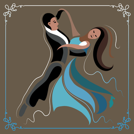 male ballet dancer: Couple (man and woman), dancing the waltz.