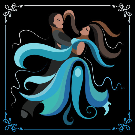 waltz: Couple (man and woman), dancing the waltz.