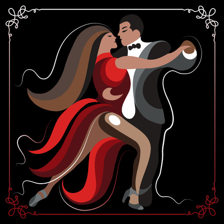 milonga: Couple (man and woman), dancing the tango.