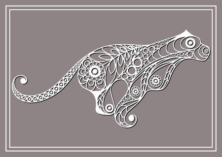 꽃 스타일의 쿠거 패턴.