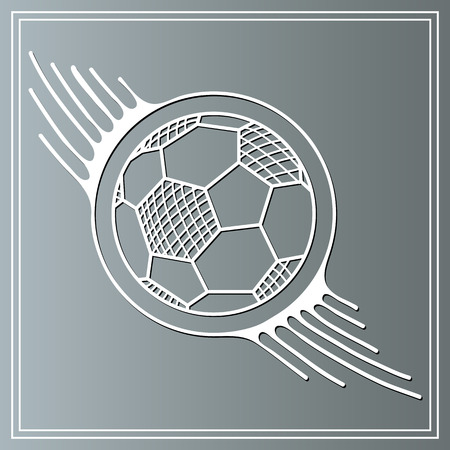 champ: Abstract soccer ball.  Suitable for invitation, flyer, sticker, poster, banner, card, label, cover, web. Vector illustration. Illustration