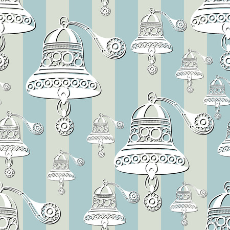 gobelin: Seamless pattern (texture) with sea bell. Sailor infinite background. Suitable for design: cloth, web, wallpaper, wrapping. Vector illustration. Illustration