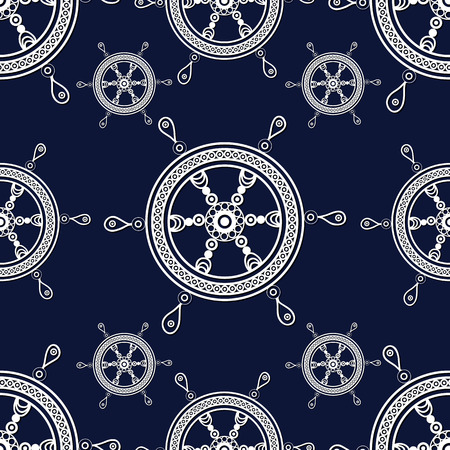 gobelin tapestry: Seamless pattern (texture) with wheel. Sailor infinite background. Suitable for design: cloth, web, wallpaper, wrapping. Vector illustration.