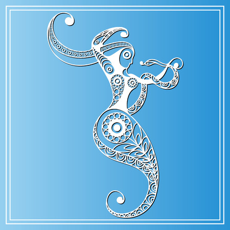 snake calendar: Decorative zodiac sign Ophiuchus. Horoscope and astrology (astronomy)-symbol. Vector illustration.
