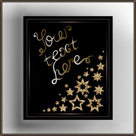 Dekorative Rahmen mit Ornament und Schriftzug. Geeignet für die Einladung, Flyer, Aufkleber, Poster, Banner, Karten, Etiketten, Cover, Web. Vektor-Illustration.
