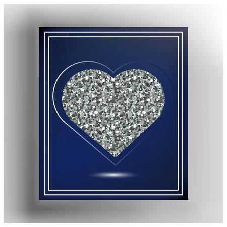 Valentine Herzen im Rahmen. Geeignet für die Einladung, Flyer, Aufkleber, Poster, Banner, Karten, Etiketten, Cover, Web. Vektor-Illustration.