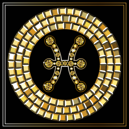 Decorative Zodiac Sign Pisces Horoscope And Astrology Astronomy