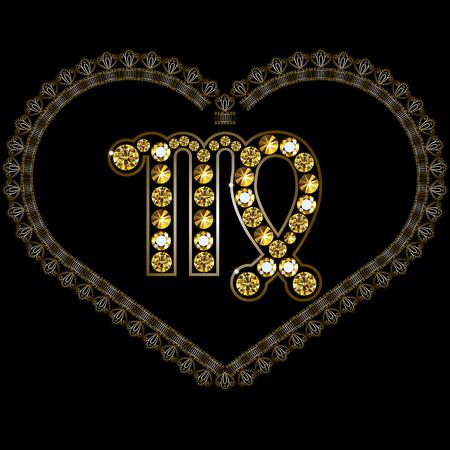 Decorative Horoscope and astrology symbol Virgo
