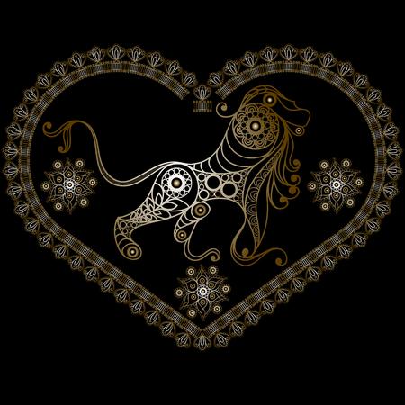 Decorative Horoscope and astrology symbol Leo