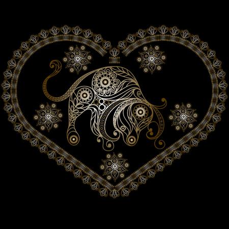 Decorative Horoscope and astrology symbol Taurus Illustration
