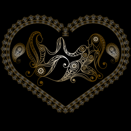 Decorative Horoscope and astrology symbol Gemini