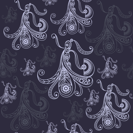 Seamless pattern  with abstract decorative Spanish girl dancing flamenco. Suitable for design: fabric, cloth, wallpaper, wrapping, packaging. Vector illustration. Vectores