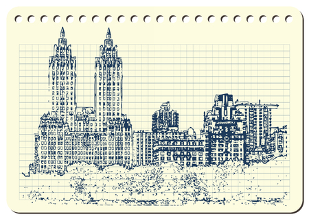 A sketch of  New York city Vector illustration.