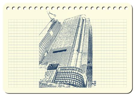 ニューヨーク市ベクターイラストのスケッチ。  イラスト・ベクター素材