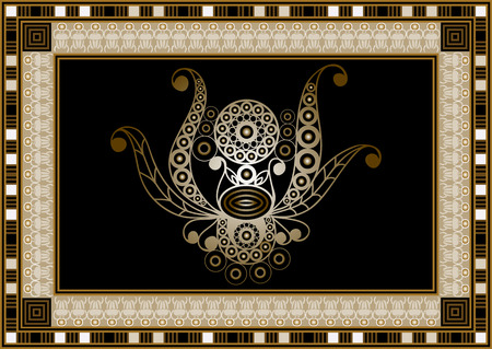 Graphic abstract design with occult symbol. Masonic (freemasonic) drawing. Suitable for invitation, flyer, sticker, poster, banner, card, label, cover, web. Vector illustration. Illustration