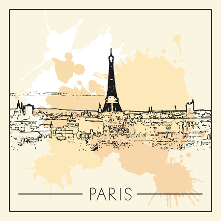 Eiffel tower. Illustrative editorial.