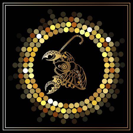 Decorative zodiac sign. Horoscope and astrology (astronomy)-symbol. Vector illustration.
