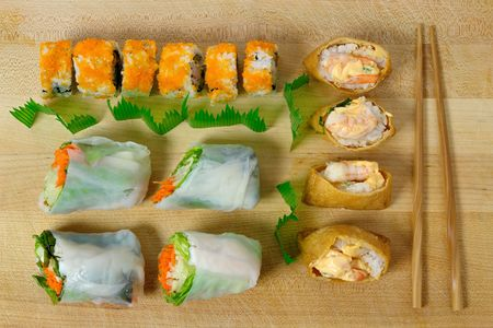 sampler: sushi sampler Stock Photo