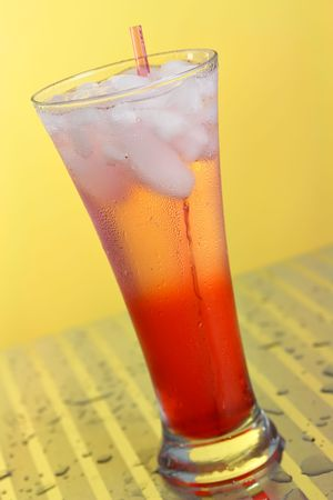 highball: Cranberry Cooler in a highball glass Stock Photo
