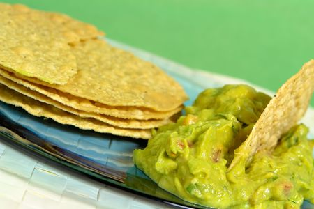 guacamole: Guacamole with waffles on plate