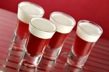 gelatine: Jell-O & Cream Shots