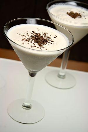 Barbara drink in a martini glass photo