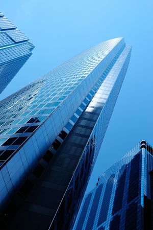 Three modern buildings in downtown Stock Photo - 482512
