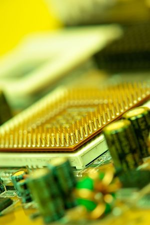 Computer mother board and cpu photo