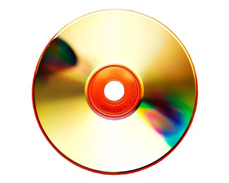 writable: Compact Disk on white Stock Photo