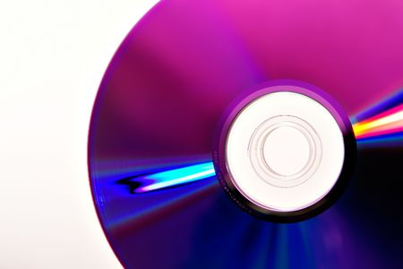 safe and sound: Compact Disk on white Stock Photo