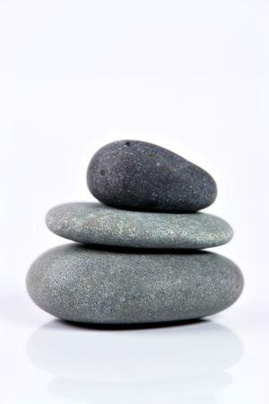 Isolated Zen Stones photo