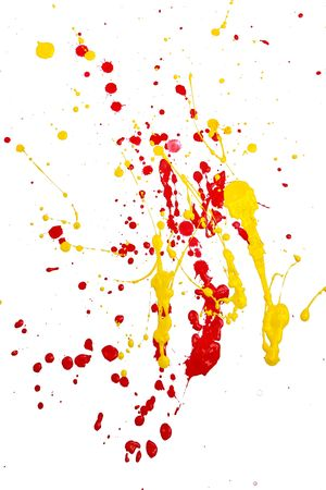 Paint splashed on white background