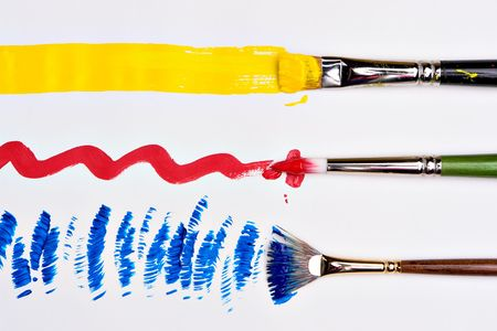 artistry: Three colors strokes of primary colors