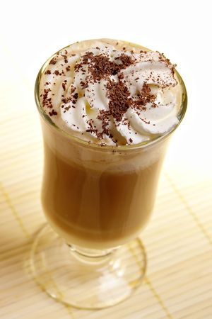 latte coffee with white chocolate and irish cream photo