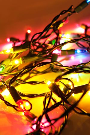 Christmas tree lights with lot of colors