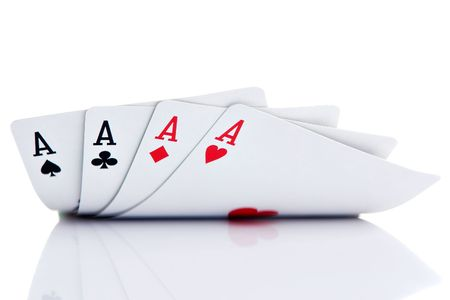 four of a kind: Four of a kind aces Stock Photo
