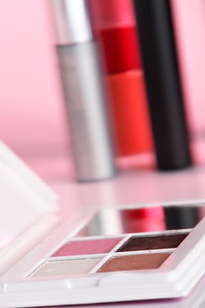 Cosmetic product close-up with pink cast Stock Photo - 834752