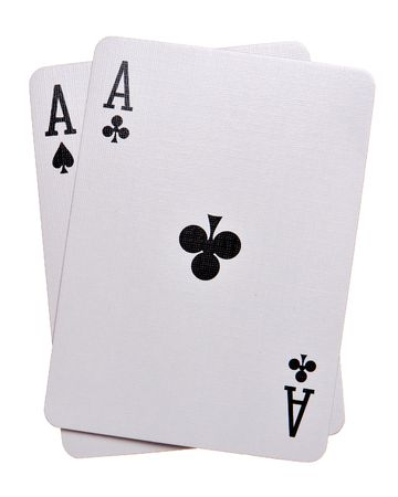 Pocket Aces Isolated on white background