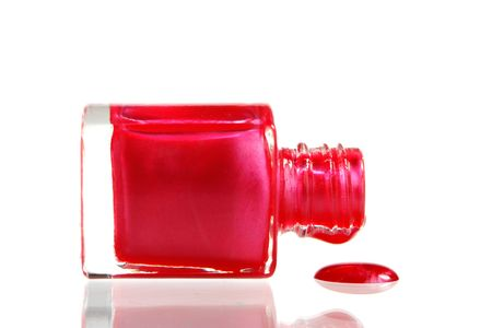 Red Nail Polish with a drop