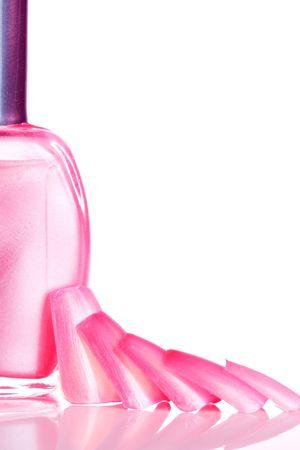 Pink u�as y esmalte de u�as  Foto de archivo - 847657